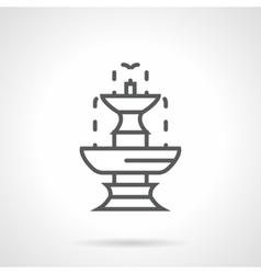 Classic fountain black line icon vector image