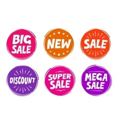 Collection symbols such as Sale New Discount vector