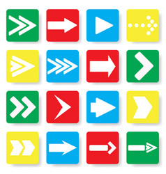 colored rectangles with arrows vector image