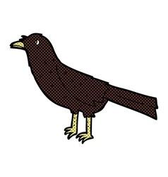 Comic cartoon crow vector