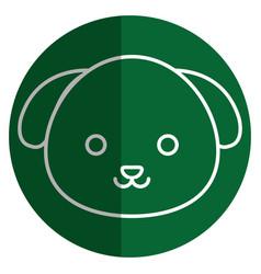 Cute and tender dog kawaii style vector