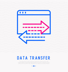 data transfer thin line icon vector image