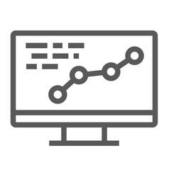 development line icon optimization and coding vector image