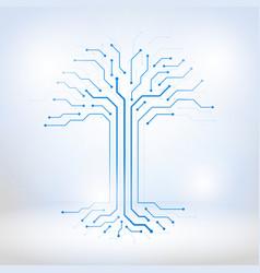Digital tree made circuits vector