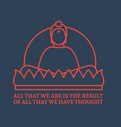 Flat buddha icon vector