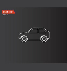 flat car icon on white background abstract logo vector image