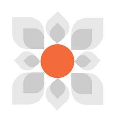 Geometric daisy flower hand vector
