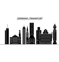 Germany frankfurt architecture city vector