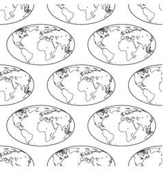 globe contour pattern vector image