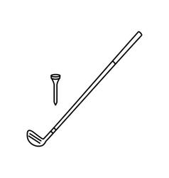 Golf club line icon vector image
