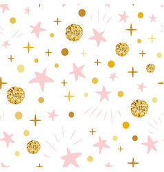 hand drawn seamless pattern decoreted gold balls vector image