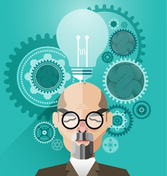 Head with Creative brain idea concept vector image