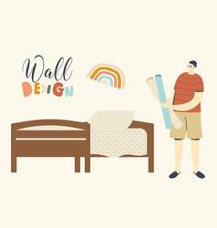 home design renovation creativity concept male vector image