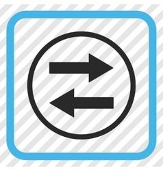 Horizontal Flip Arrows Icon In a Frame vector