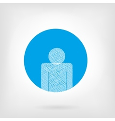 Human icon in flat and doodle style vector