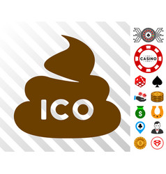 Ico shit icon with bonus vector