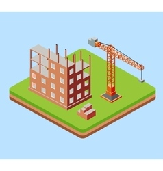 Industrial city building vector image