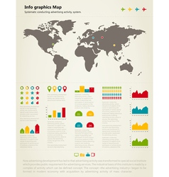 Info graphic map vector