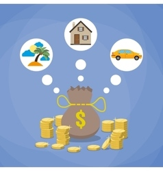 investment savings future planing concept vector image