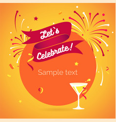 invitation background lets celebrate vector image