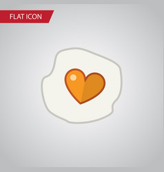 isolated fried egg flat icon scrambled vector image