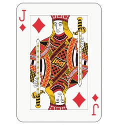 Jack of diamonds vector
