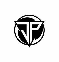 Jp logo monogram design template vector