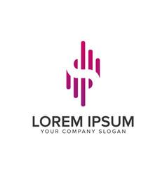 letter s modern logo signal logo design concept vector image