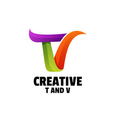 logo letter gradient colorful style vector image