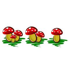 Logos of forest mushrooms vector