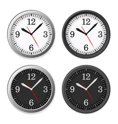 mechanical circle clock dial set vector image