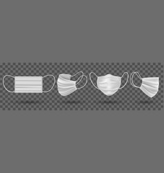 medical mask isolated vector image