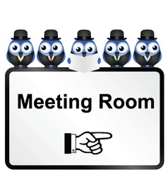 Meeting room sign vector