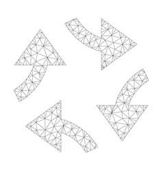 Mesh swirl arrows icon vector