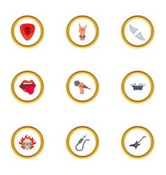 metal icons set cartoon style vector image