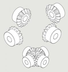 Miter gear 16t vector