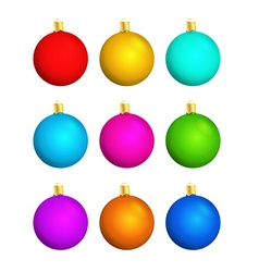 Nine christmas balls vector
