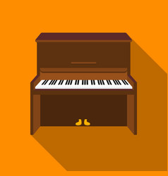 piano icon in flat style isolated on white vector image