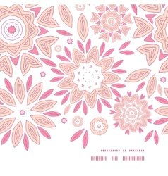 pink abstract flowers horizontal frame seamless vector image