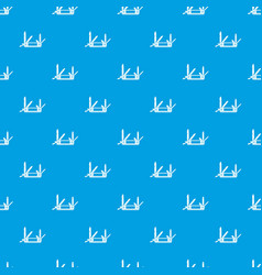 pocket flashlight pattern seamless blue vector image