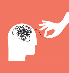psychologic therapy session concept with human vector image