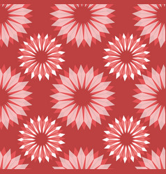 radial abstract floral seamless pattern vector image