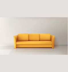 realistic yellow sofa vector image