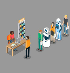 robot jobs concept isometric vector image
