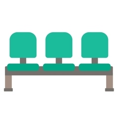 Row of green chairs vector image