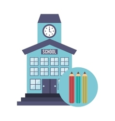 school building with education icon vector image