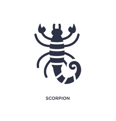 Scorpion icon on white background simple element vector