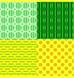seamless abstract circle pattern background set vector image