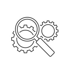 Search engine optimization line icon vector