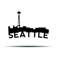 seattle cityscape vector image